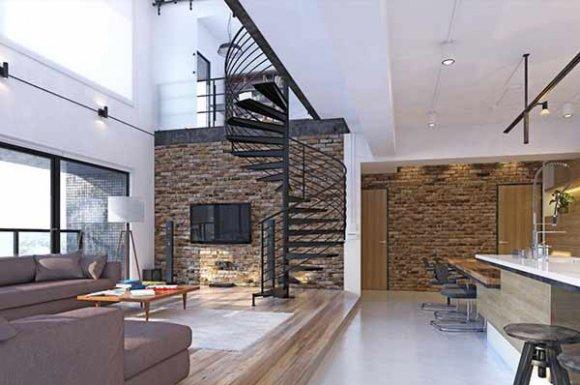 Maître d'œuvre pour la coordination des travaux de rénovation d'un loft à Lyon.