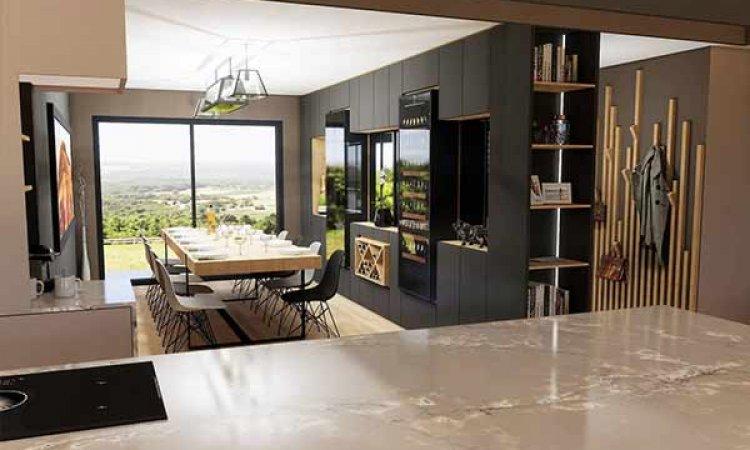 Rénovation complète de cuisine ouverte sur mesure à Lyon et sa région. DiegOliviA